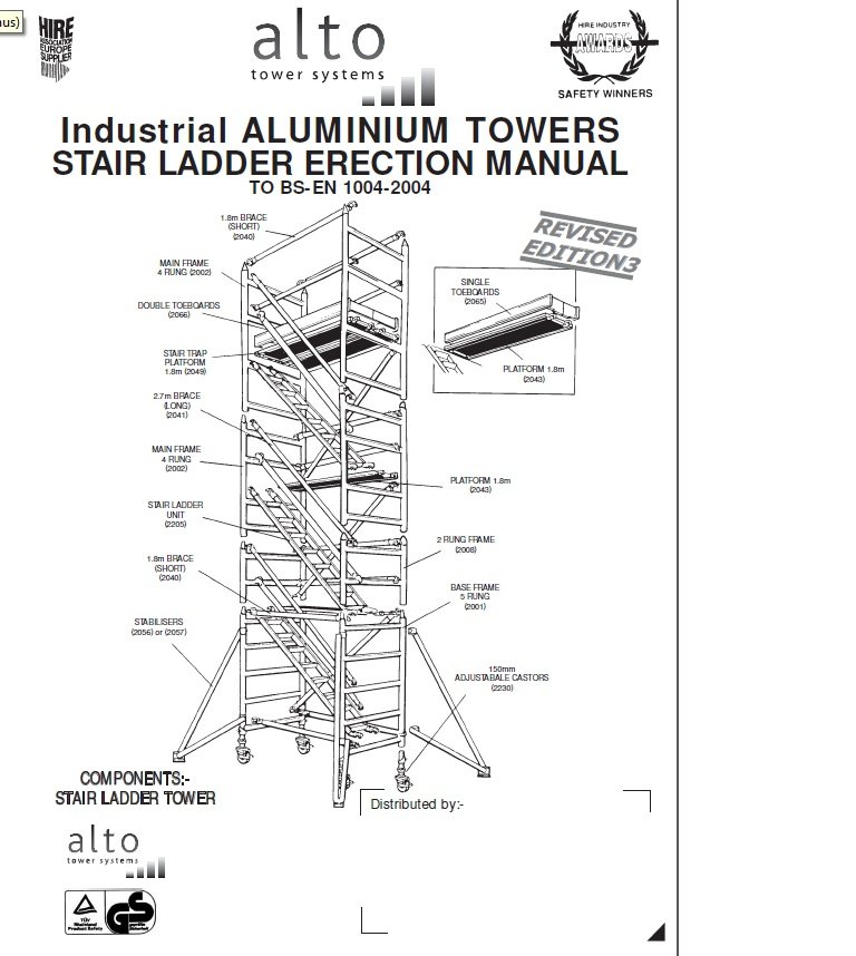 ALLOY TOWER, 1.8m, HEIGHT - 10.4M 34ft 1in